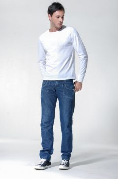 white Henley Cotton T-shirt